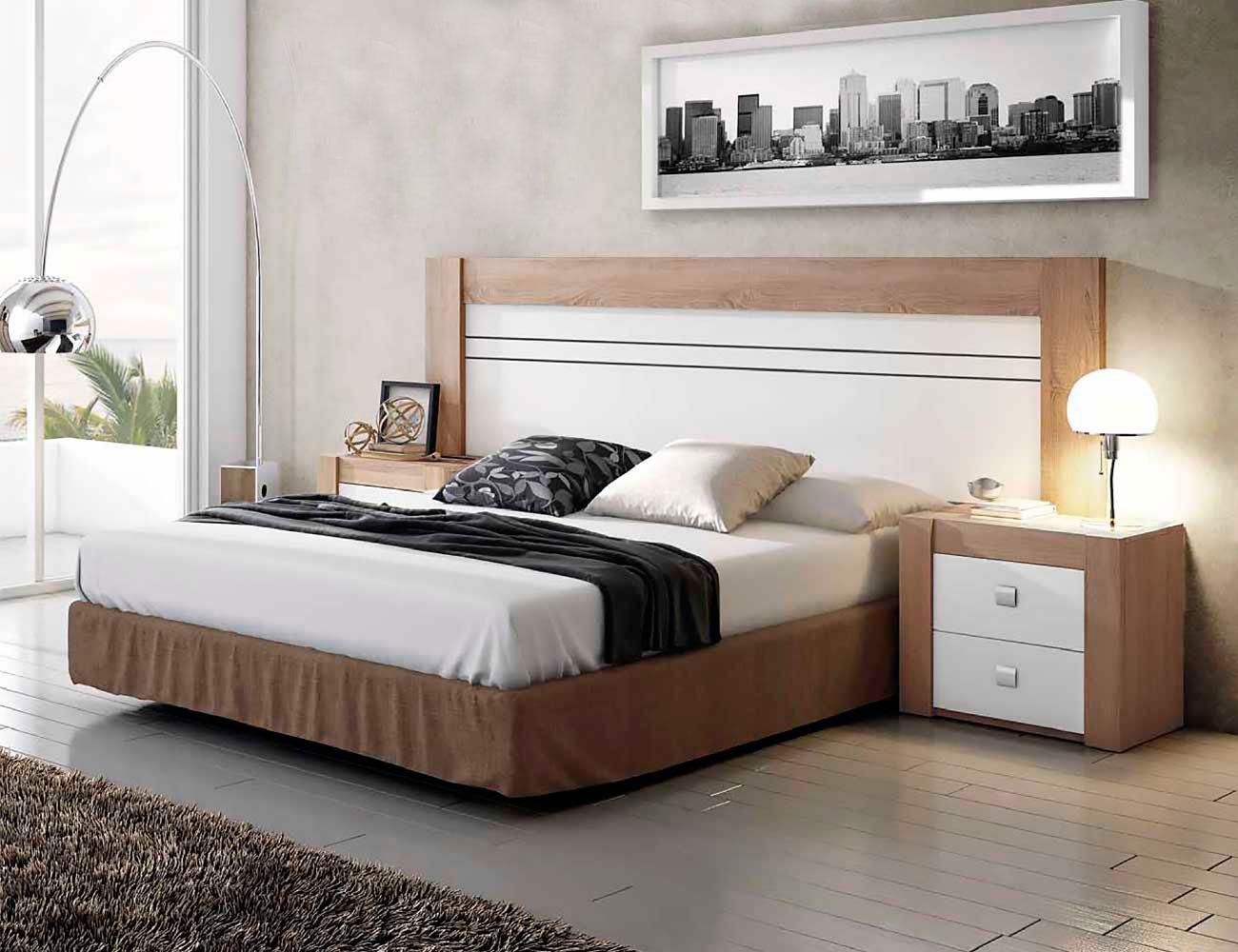 Dormitorio moderno mesitas noche cambrian blanco 01