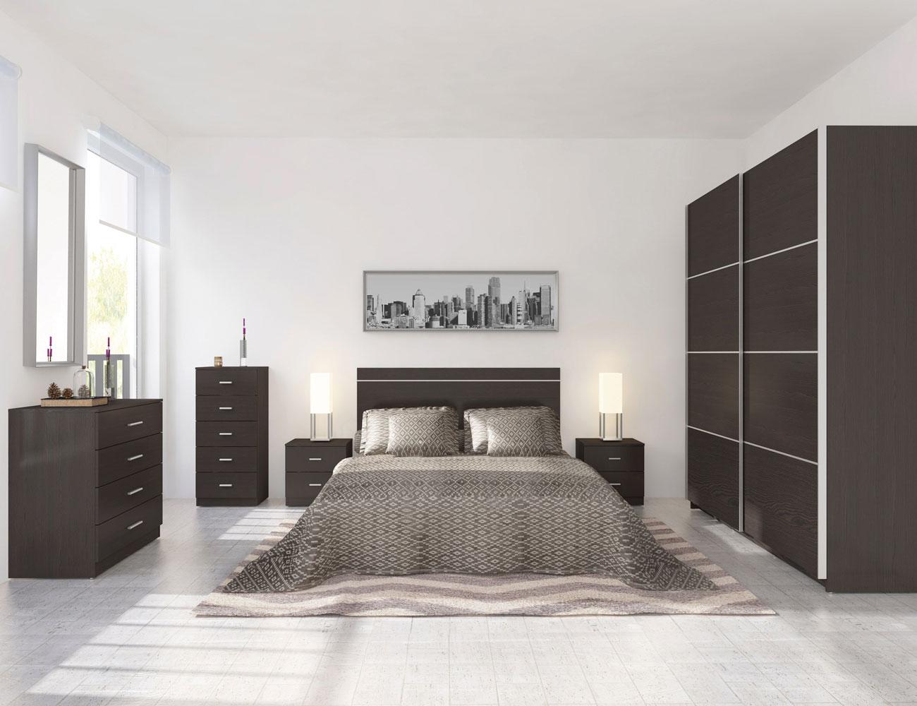 Dormitorio wengue mesita cabecero 701 2