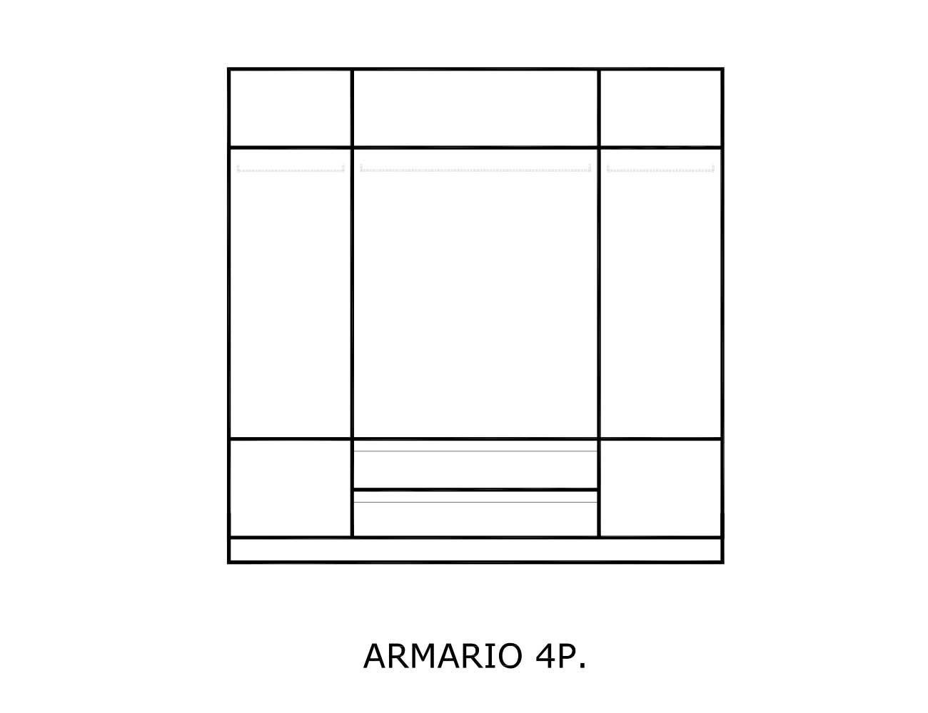 Interior armario 4 puertas