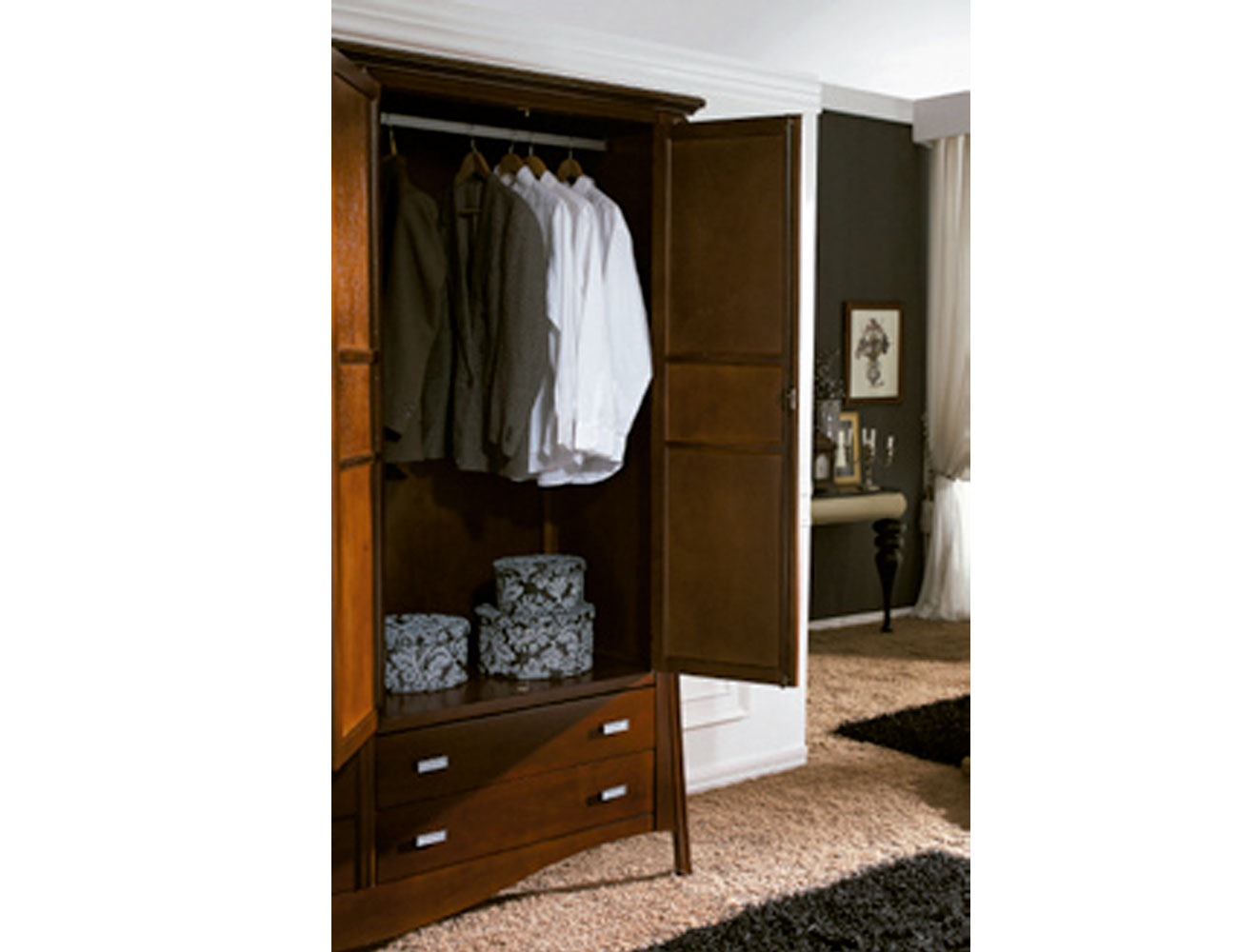 Interior armario versalles color155 tirador611