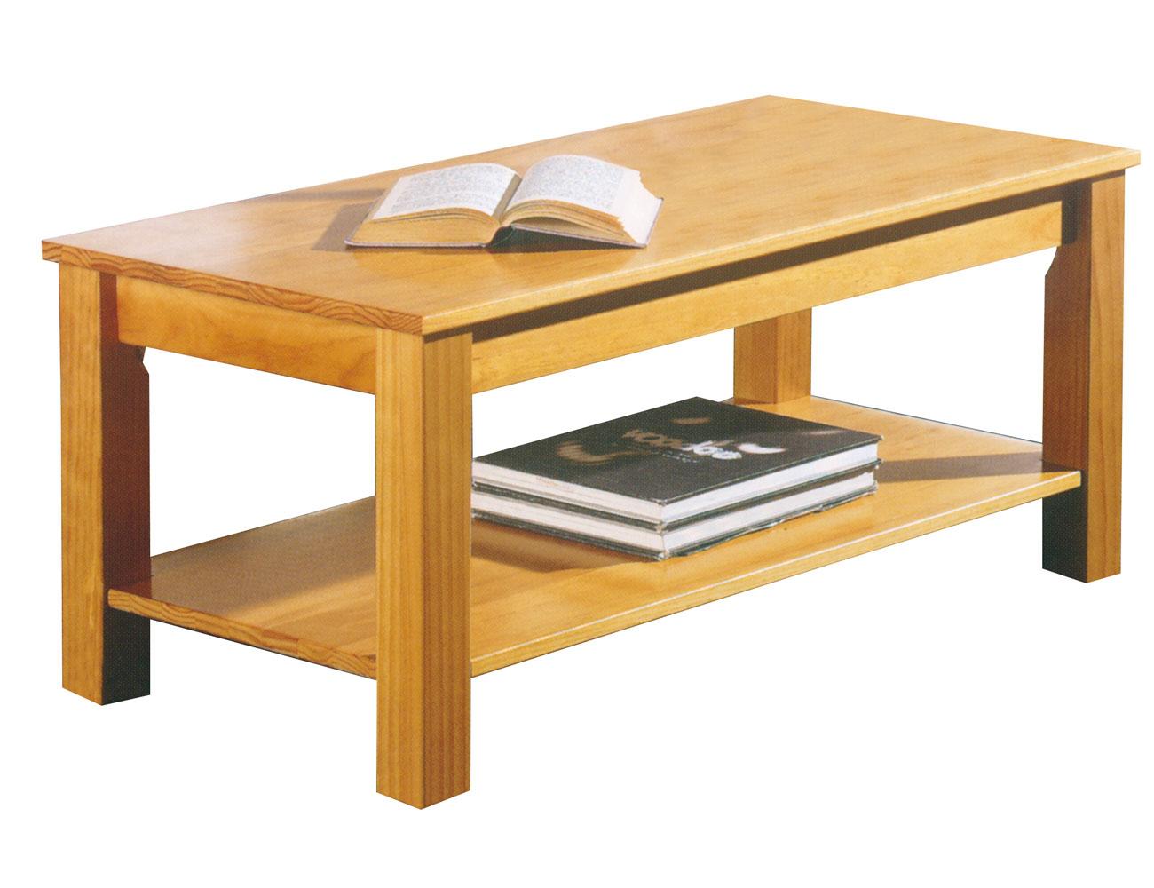 Mesa centro de madera en color miel (8147) | Factory del Mueble Utrera