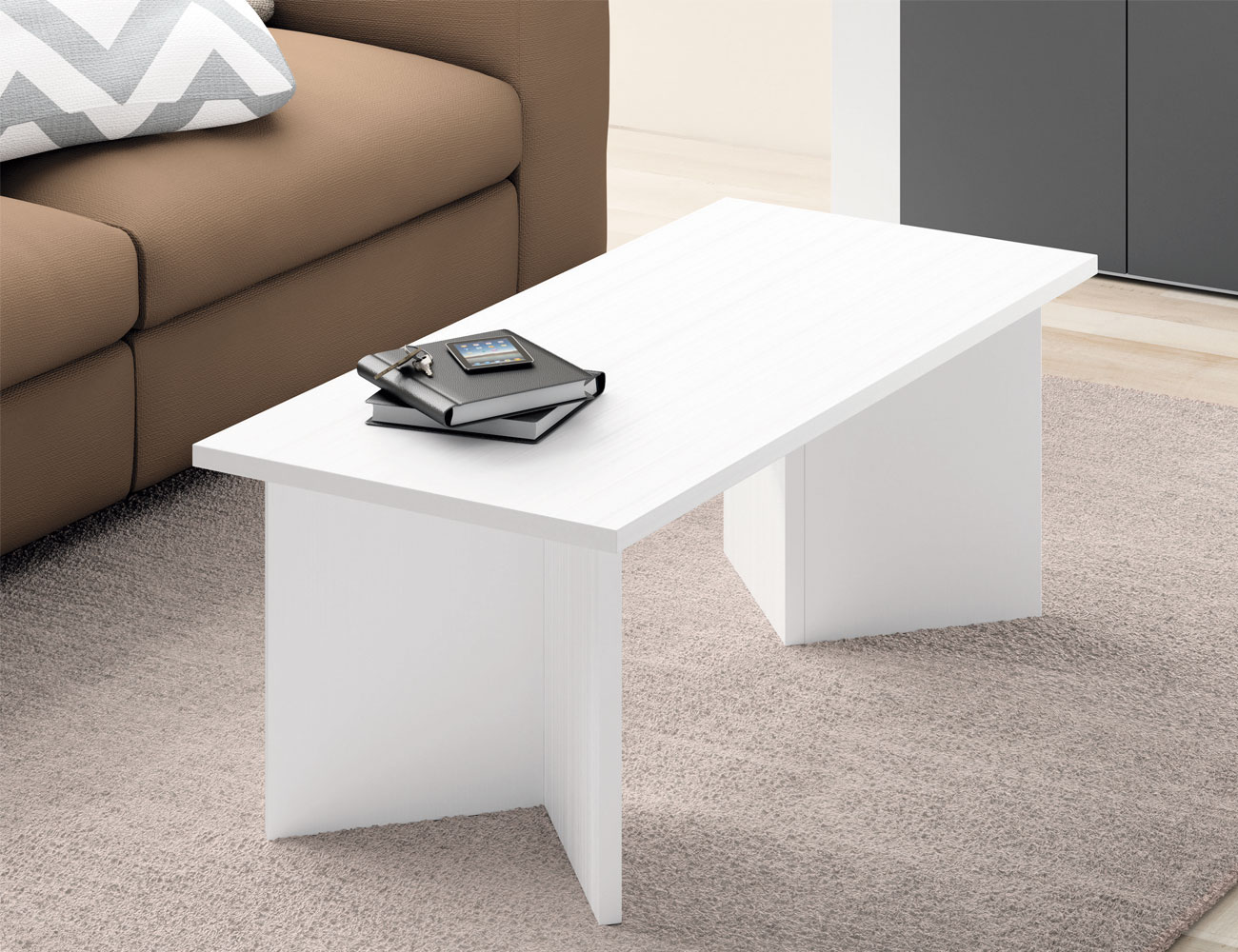 Mesa centro blanco 4275