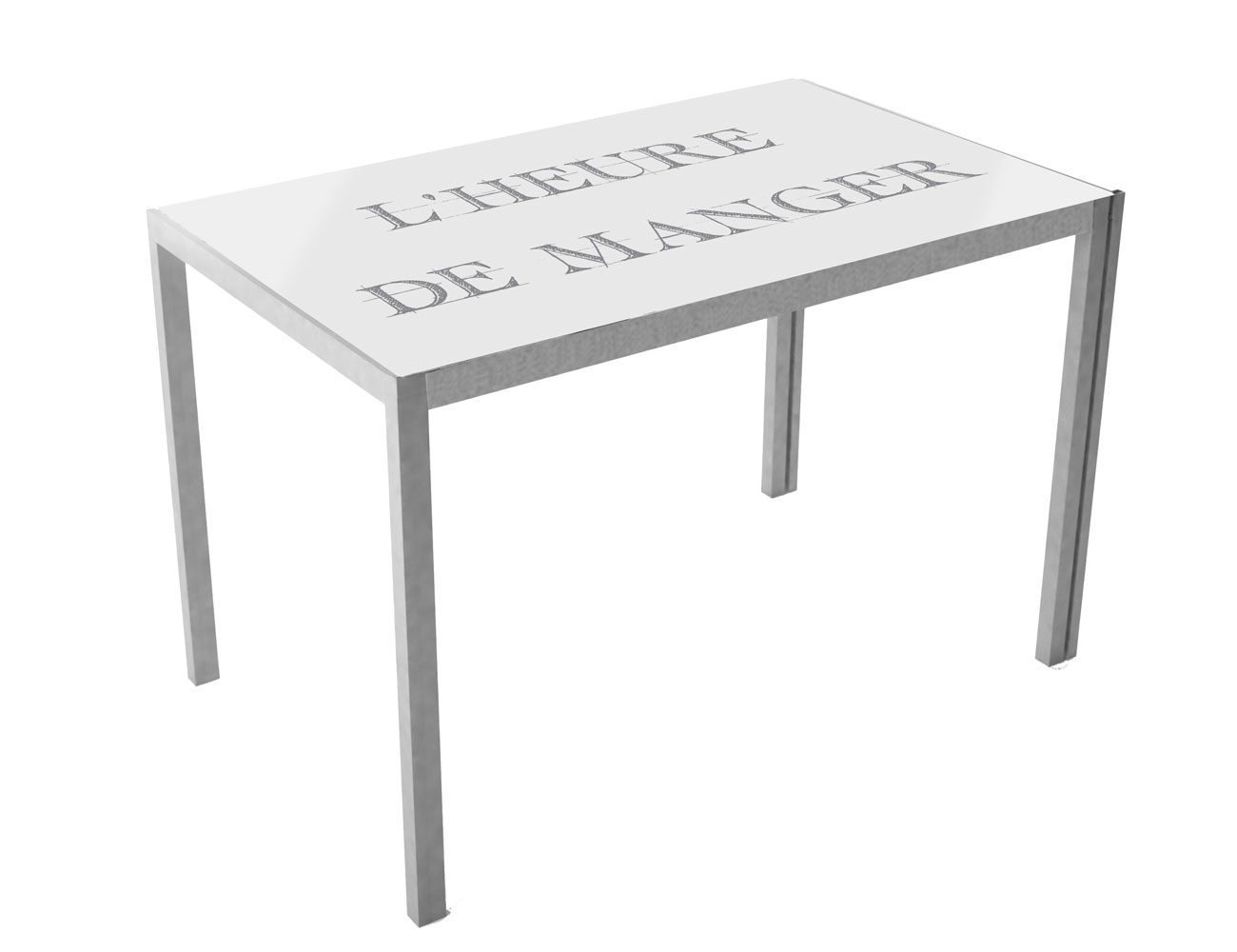 Mesa de cocina con cristal templando serigrafiado 3546 factory del mueble utrera - Cocinas conforama opiniones ...