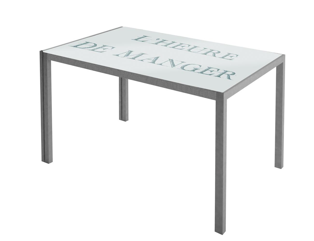 Mesa cocina cristal templado blanco 279