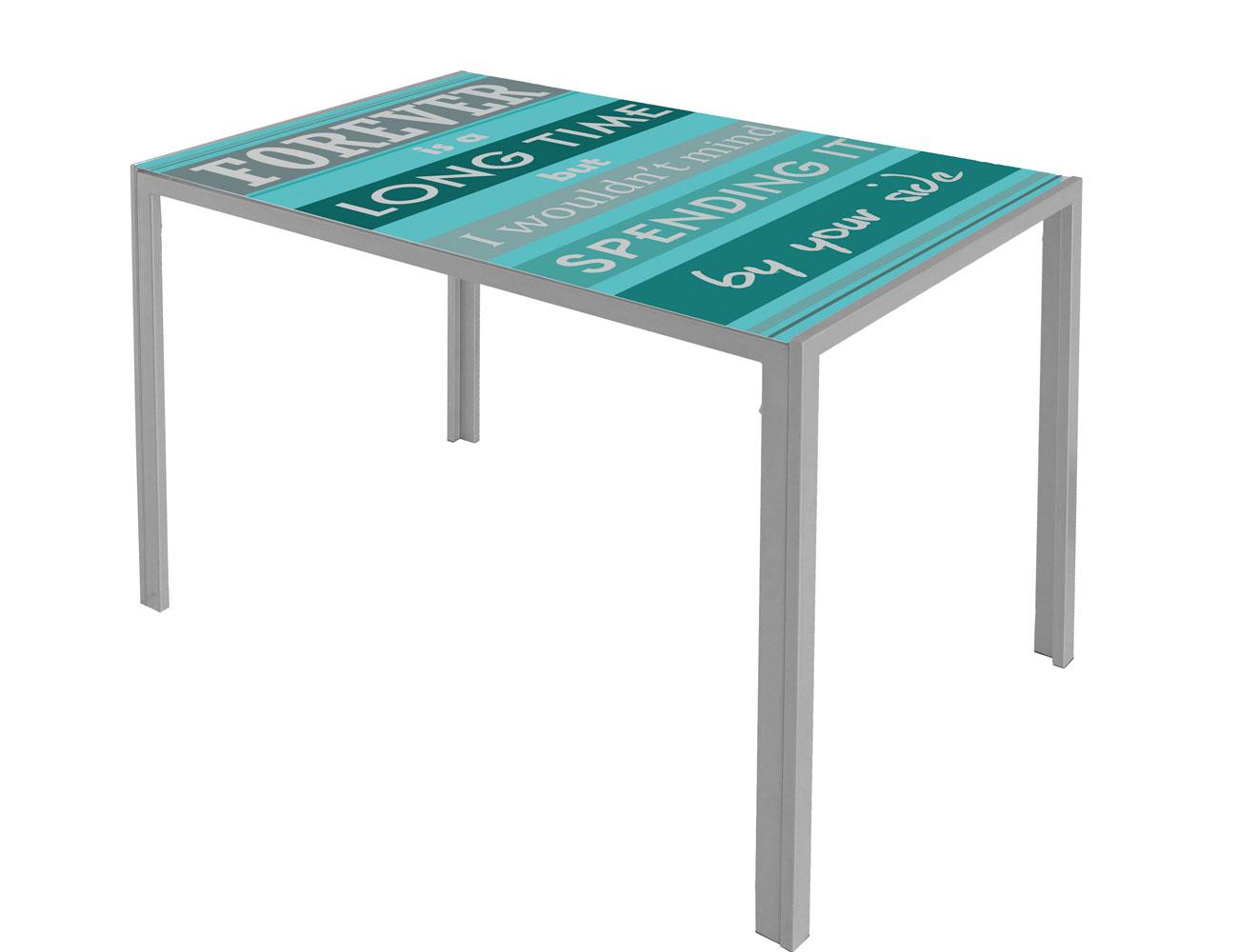 Mesa cocina cristal templado verde 279