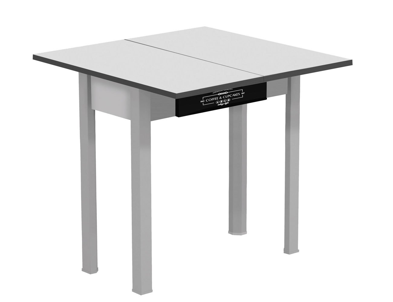 Mesa de cocina extensible tipo libro con caj n 3544 for Manual para muebles de cocina