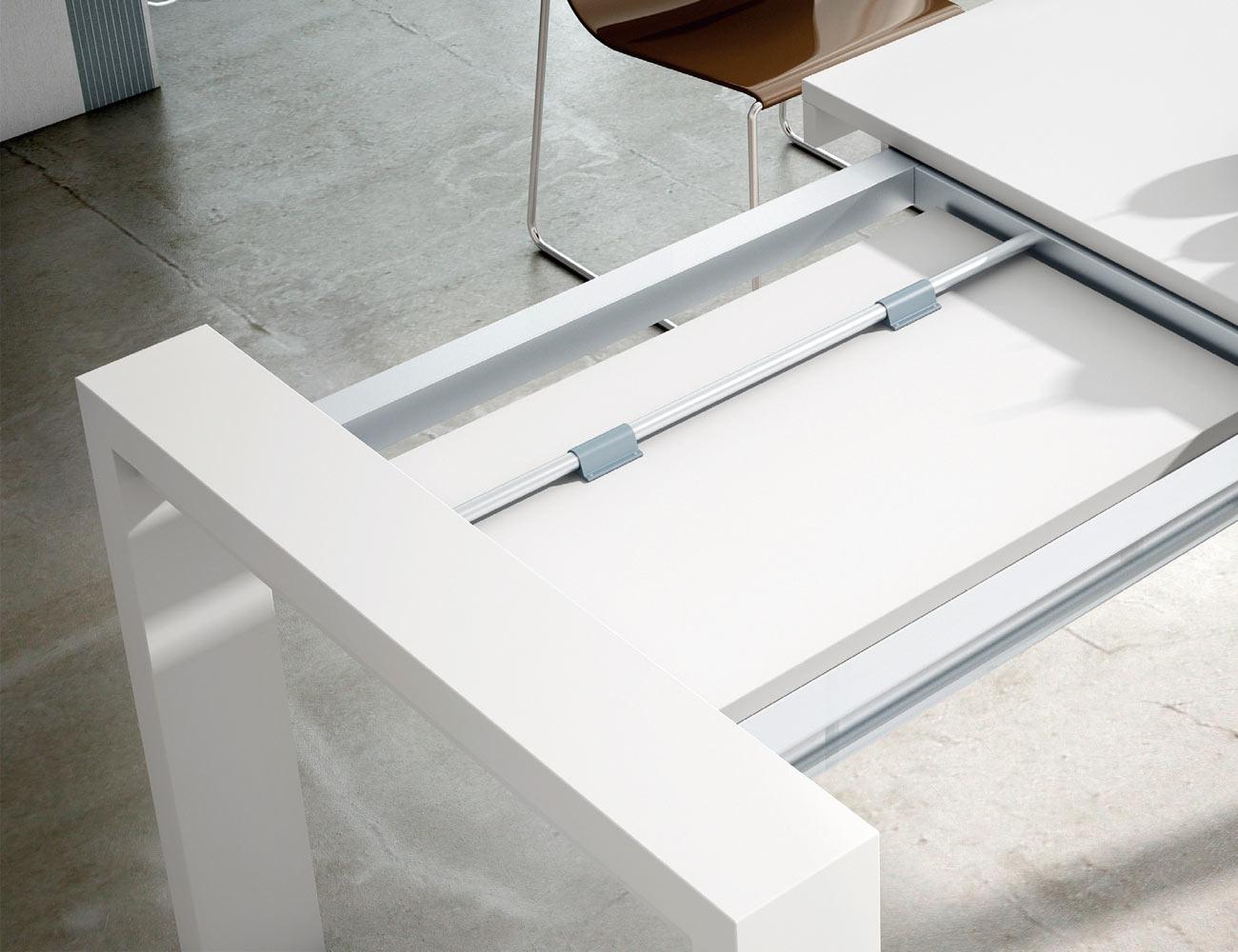 Mesa comedor carro extensible blanco 123 2