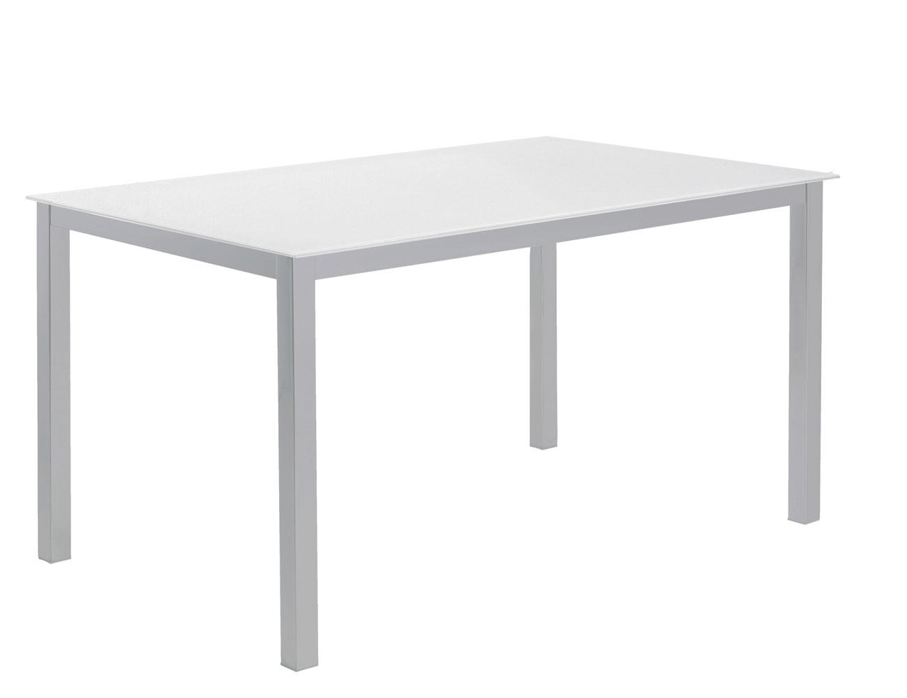 Mesa comedor cristal templado 201 blanco
