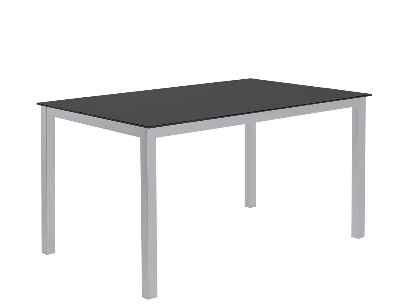 Mesa comedor cristal templado 201 negro