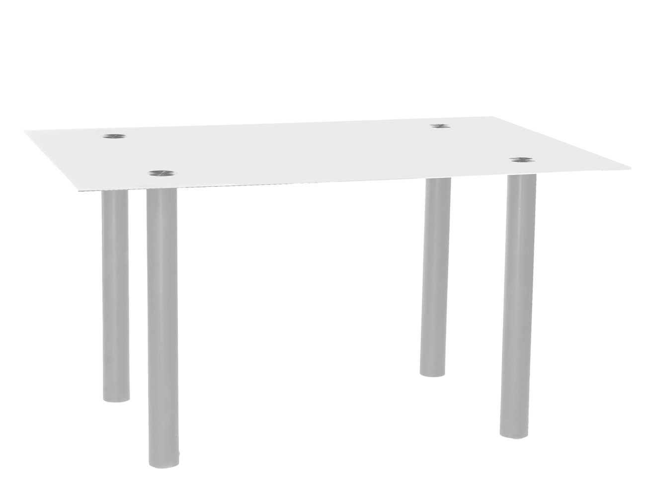 Mesa comedor cristal templado 213 blanca