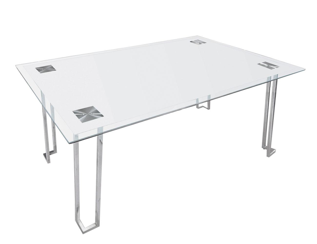 Mesa comedor cristal templado 248 blanco