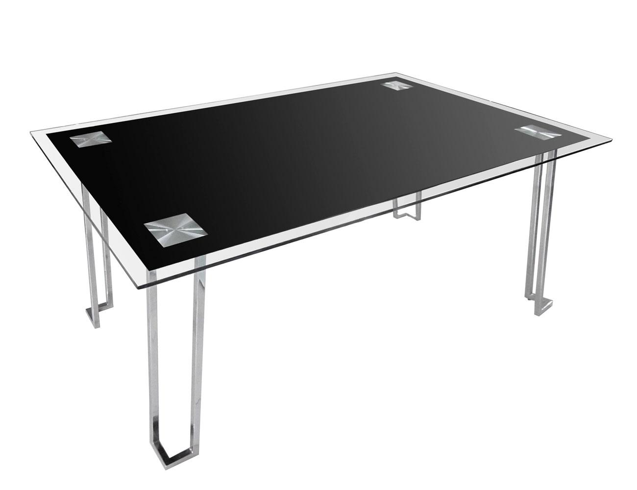 Mesa comedor cristal templado 248 negra