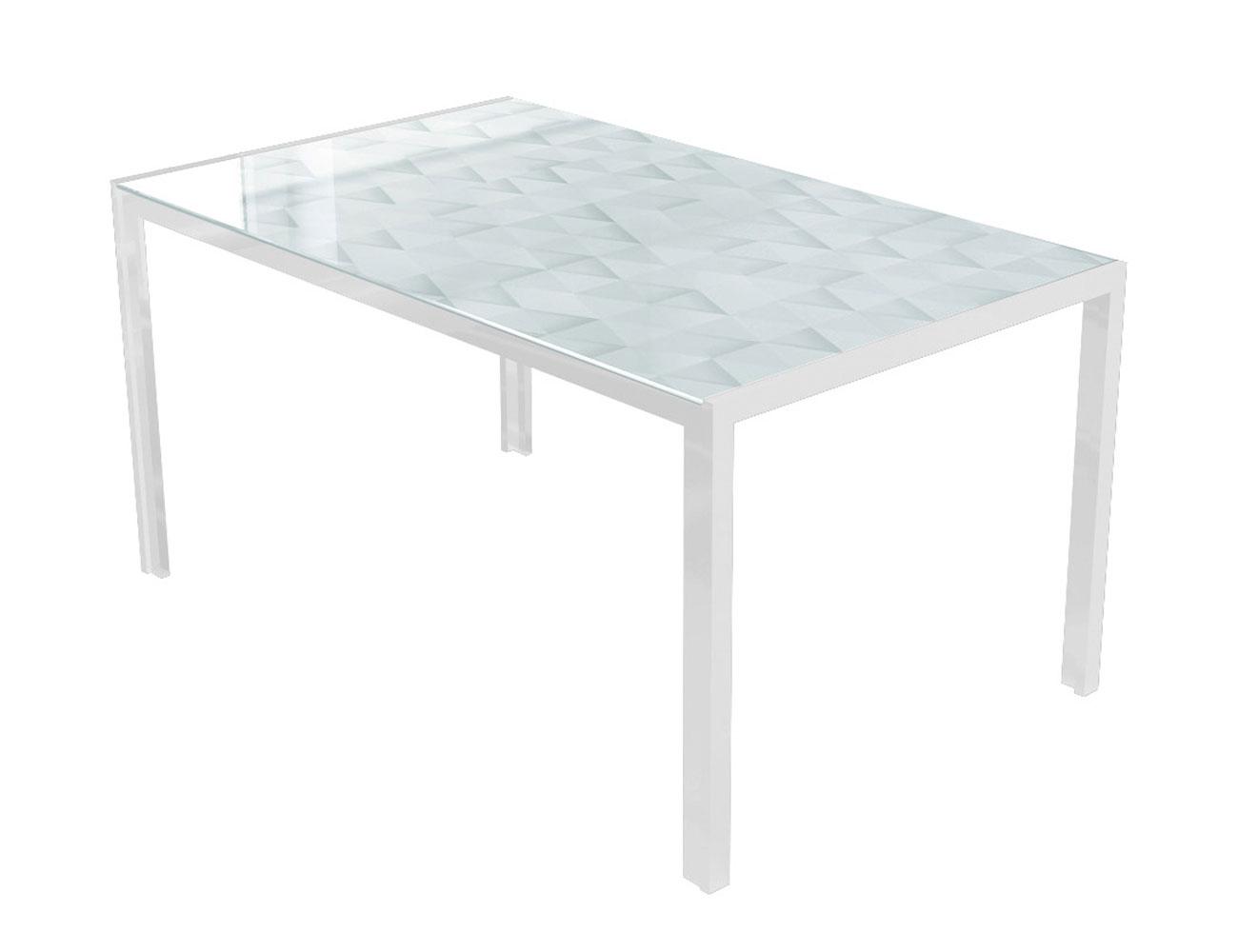 Mesa comedor cristal templado 281 blanca l