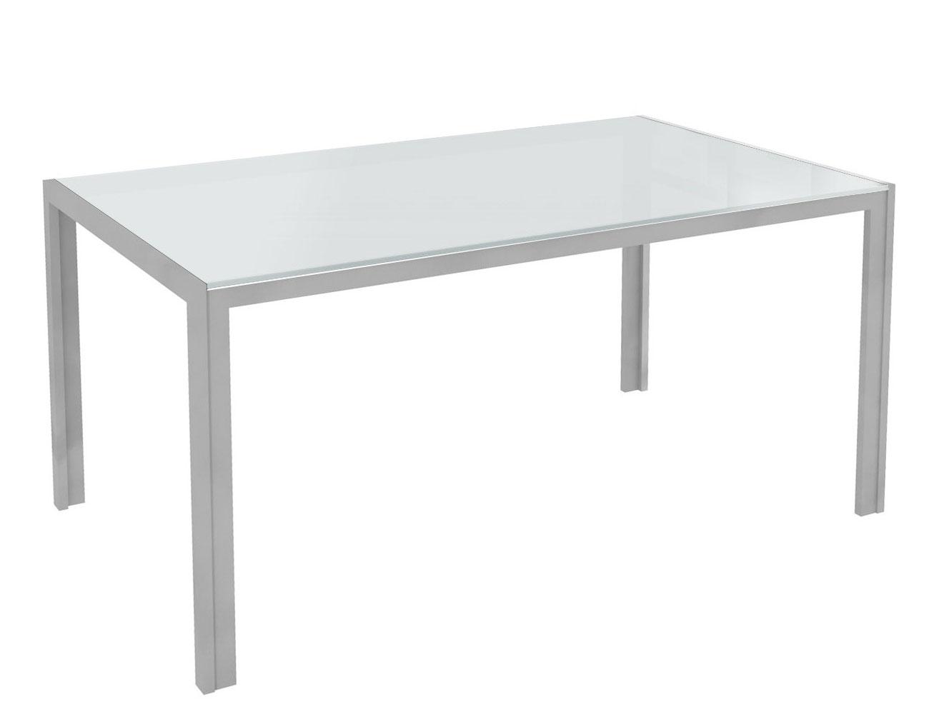 Mesa comedor cristal templado 281 blanca