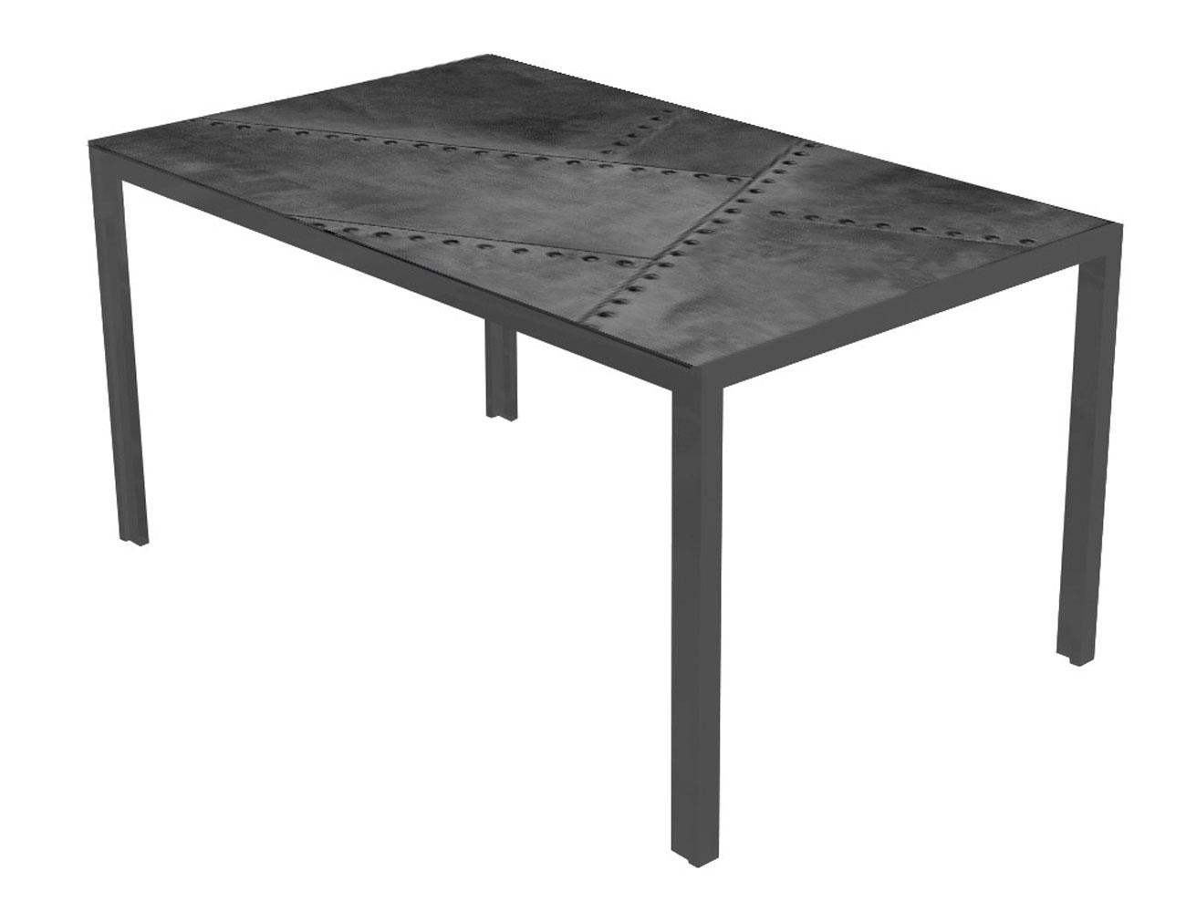 Mesa comedor cristal templado 281 negro metal
