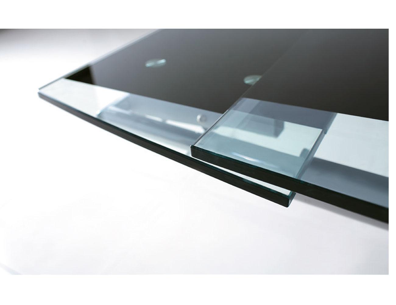 Mesa comedor cristal templado extenisble 2