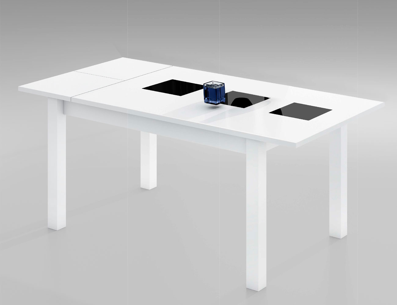 Mesa comedor extensible blanca 22