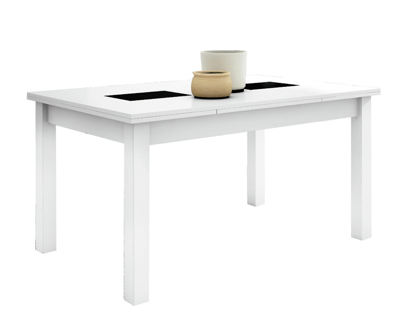 Mesa comedor extensible blanco 117