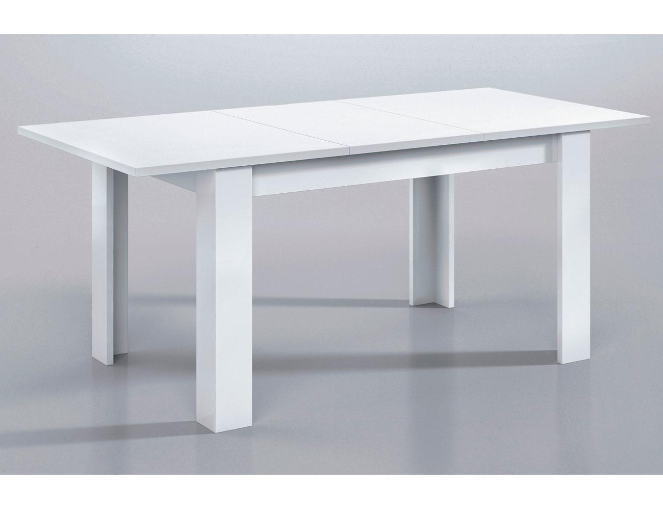 Mesa comedor extensible blanco 2