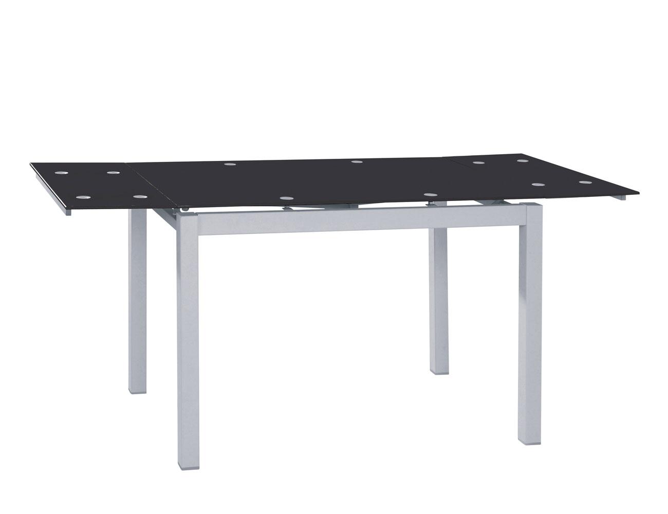 Mesa de cocina extensible en cristal templado 3582 for Mesa comedor cristal negro