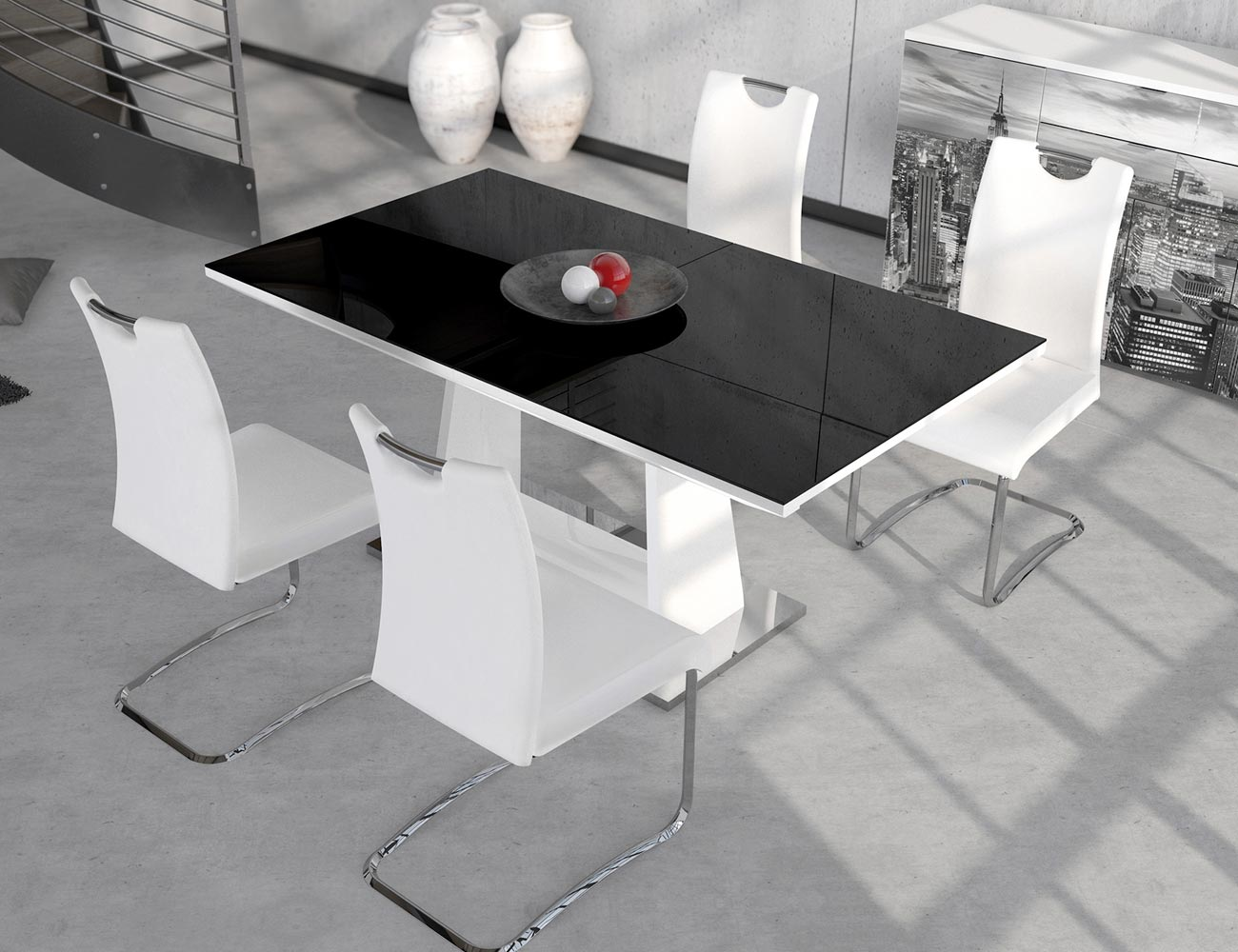 Mesa de comedor de diseño moderno extensible (3800) | Factory del ...