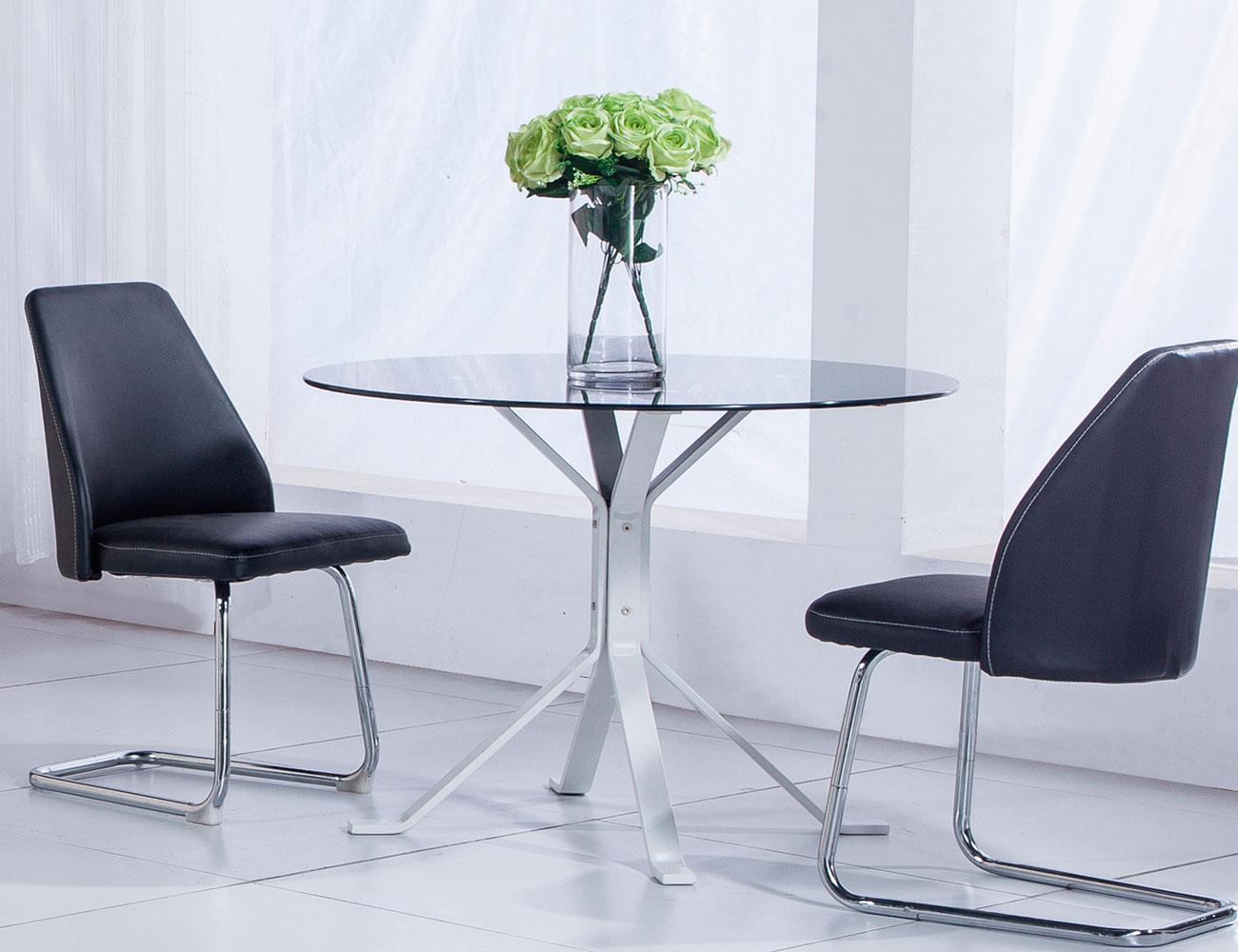 Stunning mesas de cristal redondas de comedor pictures - Mesa comedor cristal redonda ...