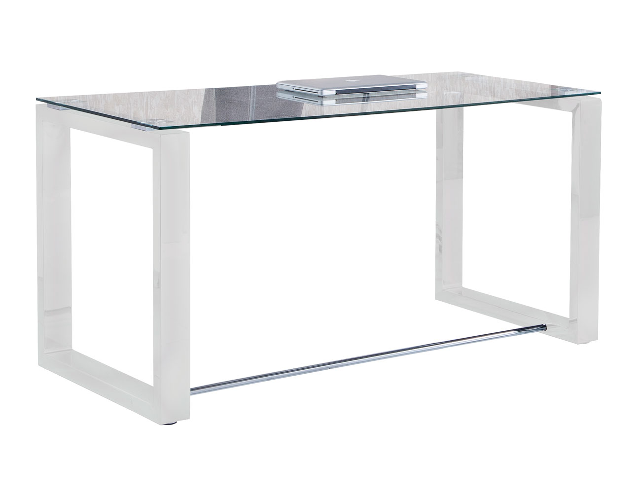 Mesa despacho u oficina en cristal tramplado 140 cm ancho (3275 ...