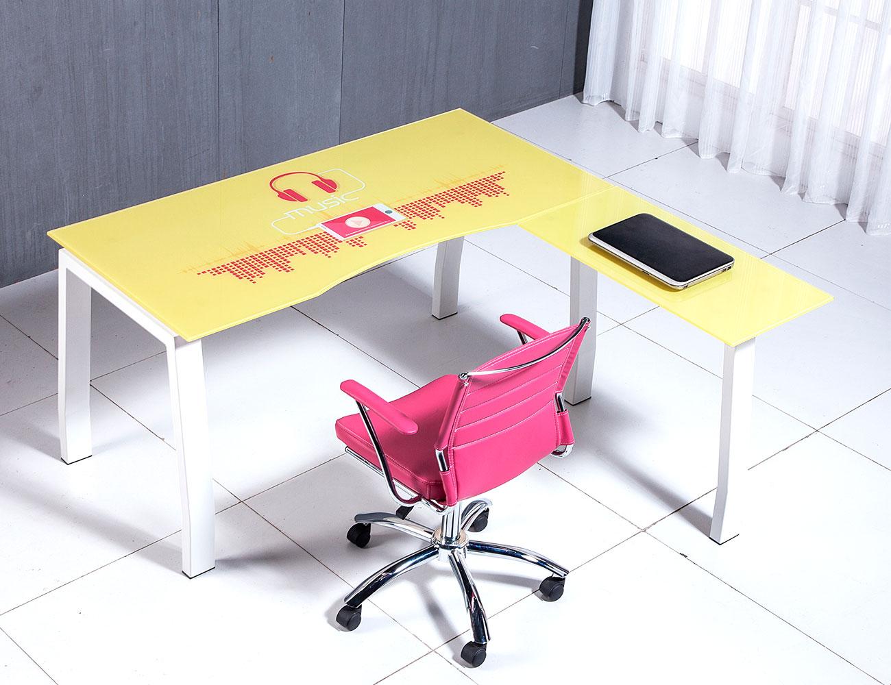 Mesa despacho oficina cristal templado musica1