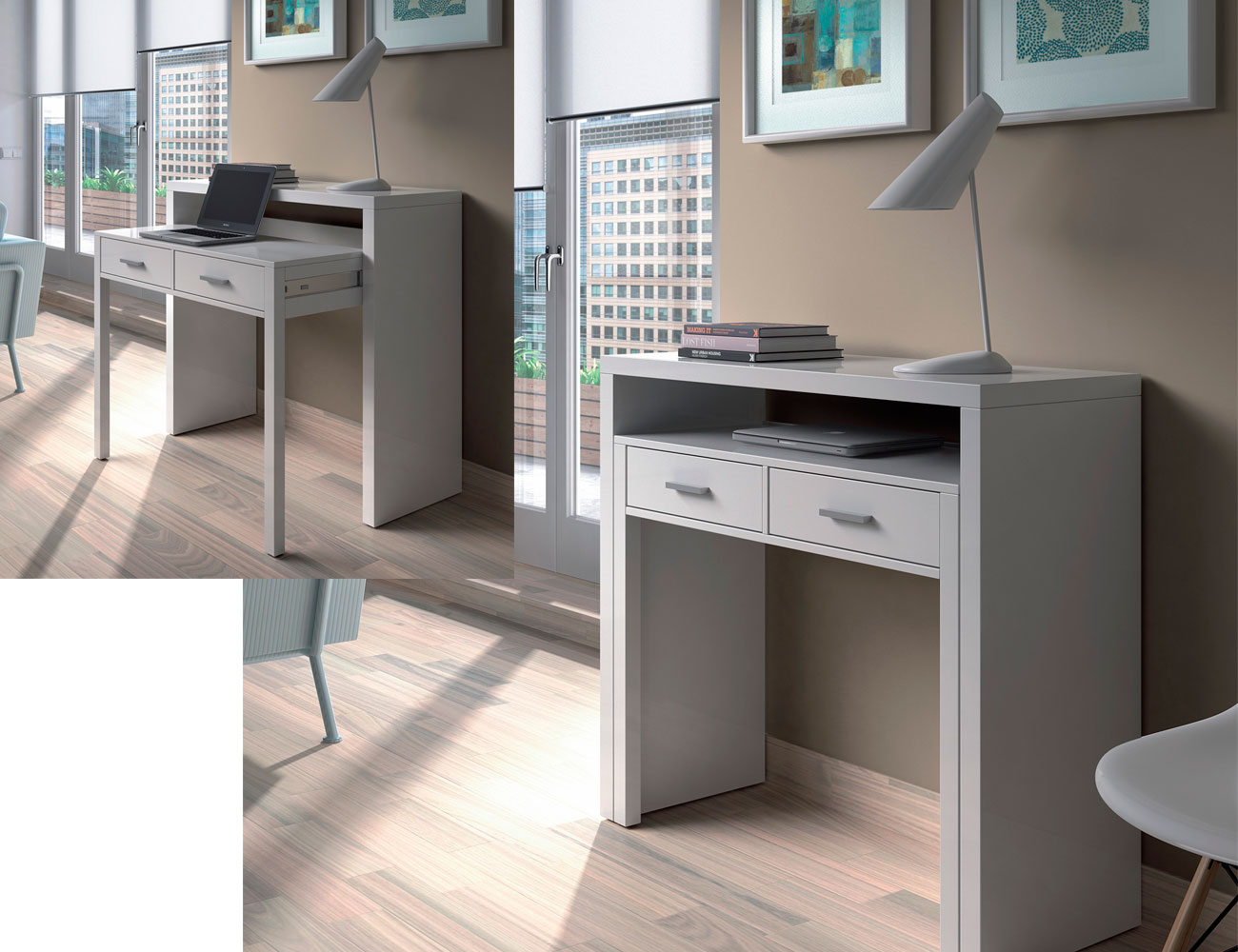Mesa escritorio desplazable 2