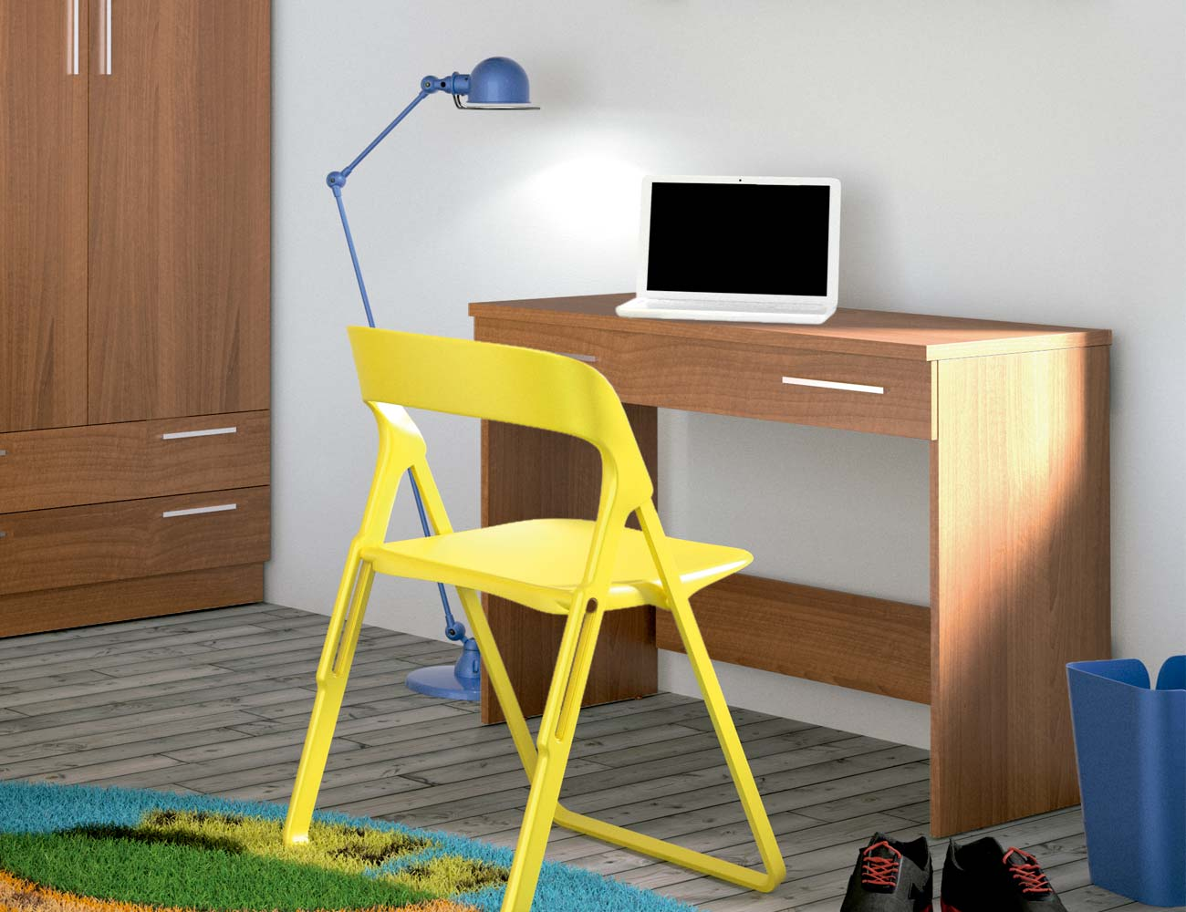 Mesa escritorio walnut grecia