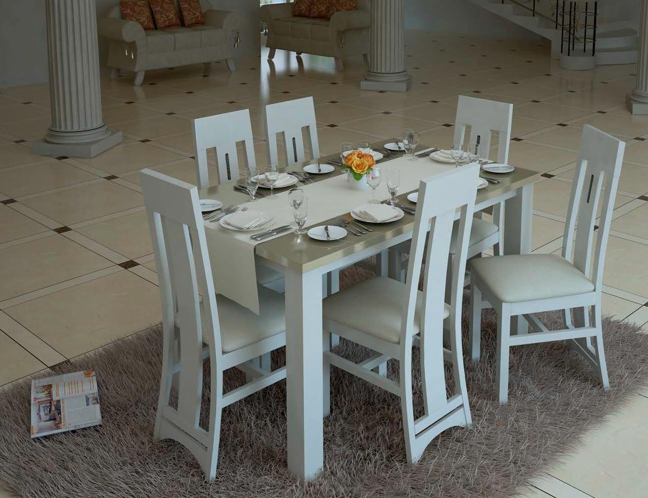 Mesa sillas neoclasico color 504 t6032