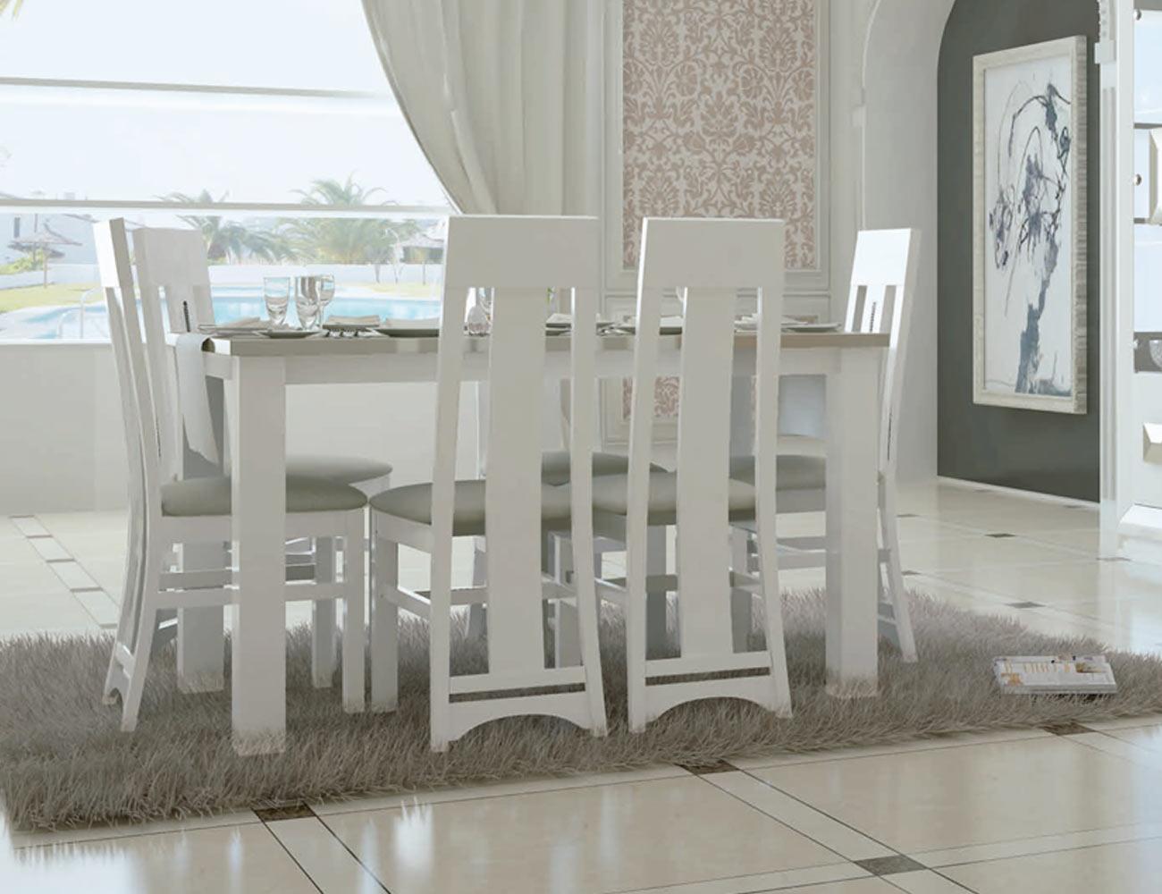 Mesa sillas neoclasico color 5043