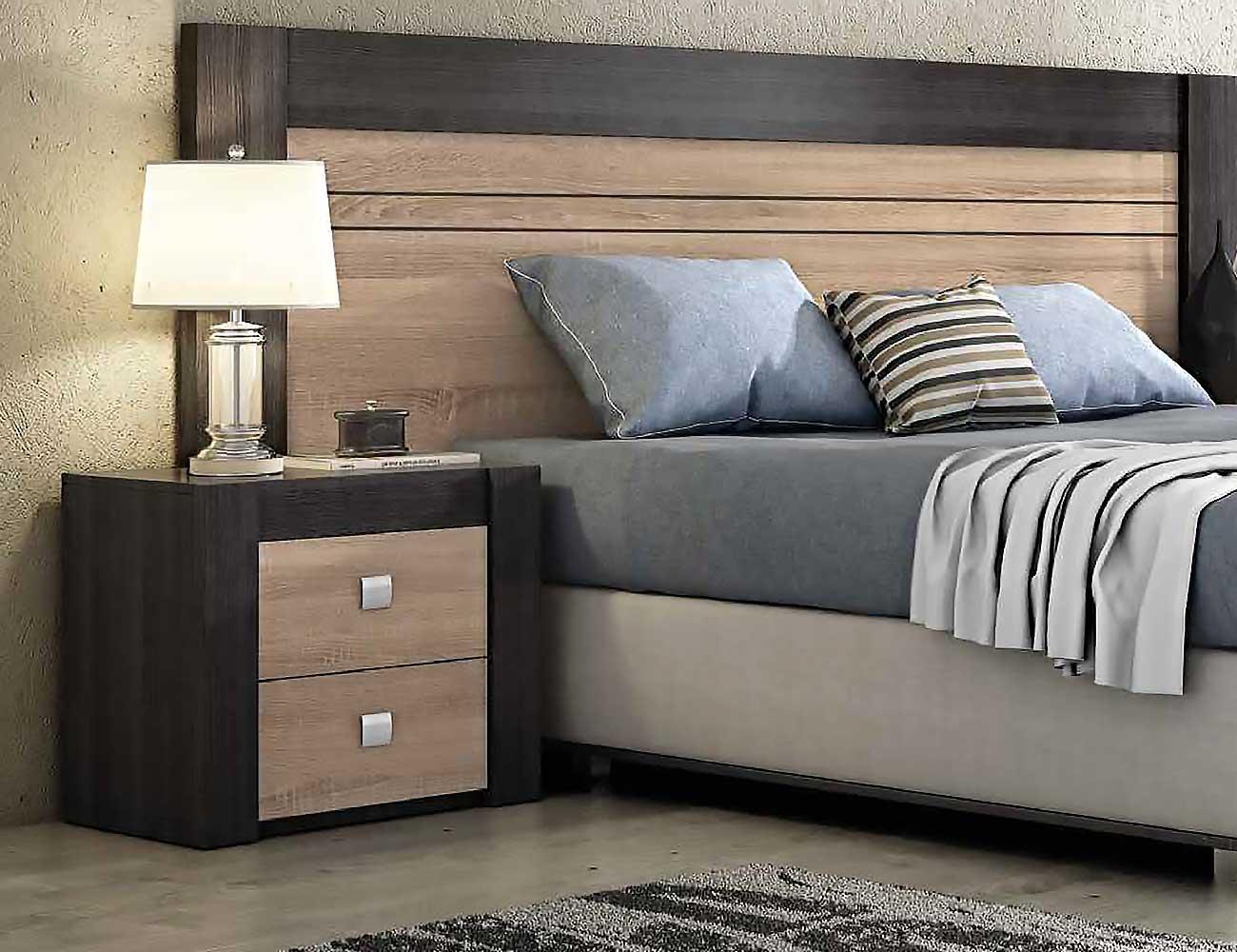 Mesita de noche 2 cajones 2348 factory del mueble utrera for Mesitas de noche modernas online