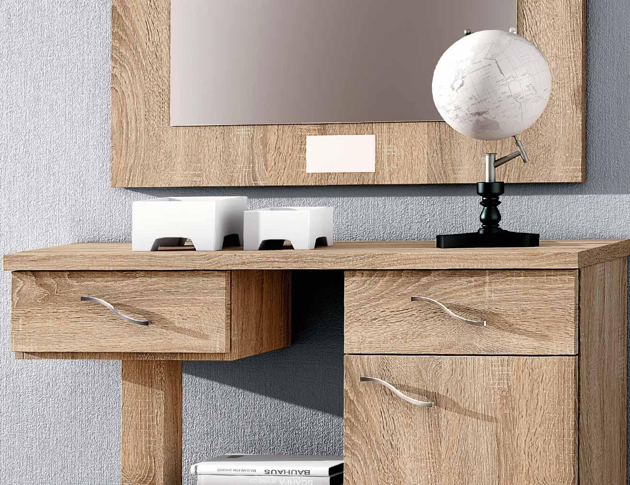 Mueble recibidor con espejo cambrian 66