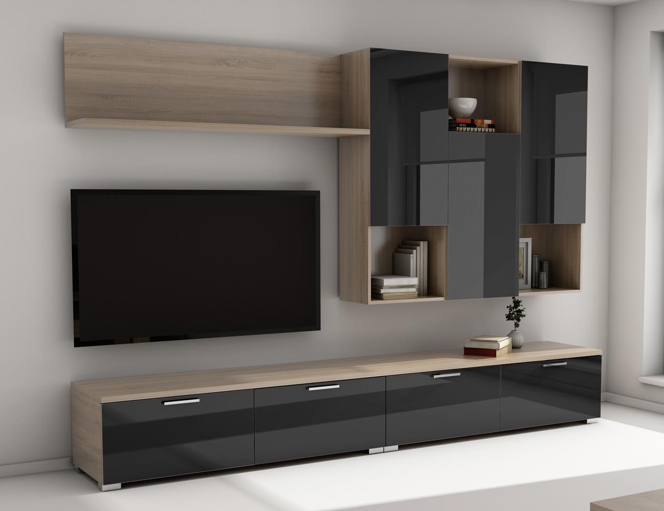 Mueble salon comedor 021 negro1