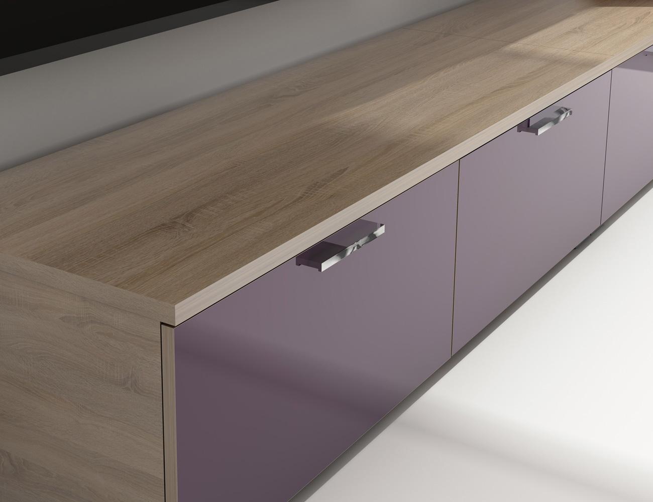 Mueble salon comedor 021 violeta 2