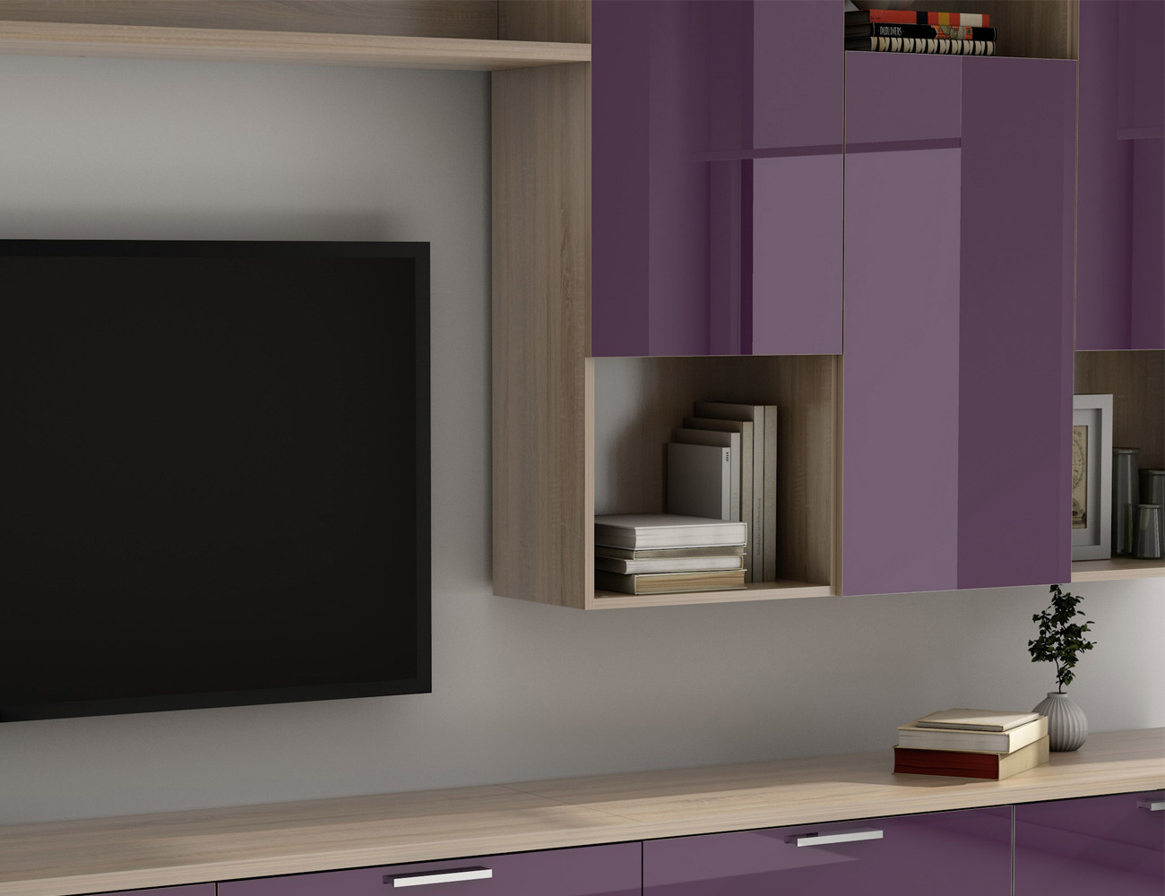 Mueble salon comedor 021 violeta