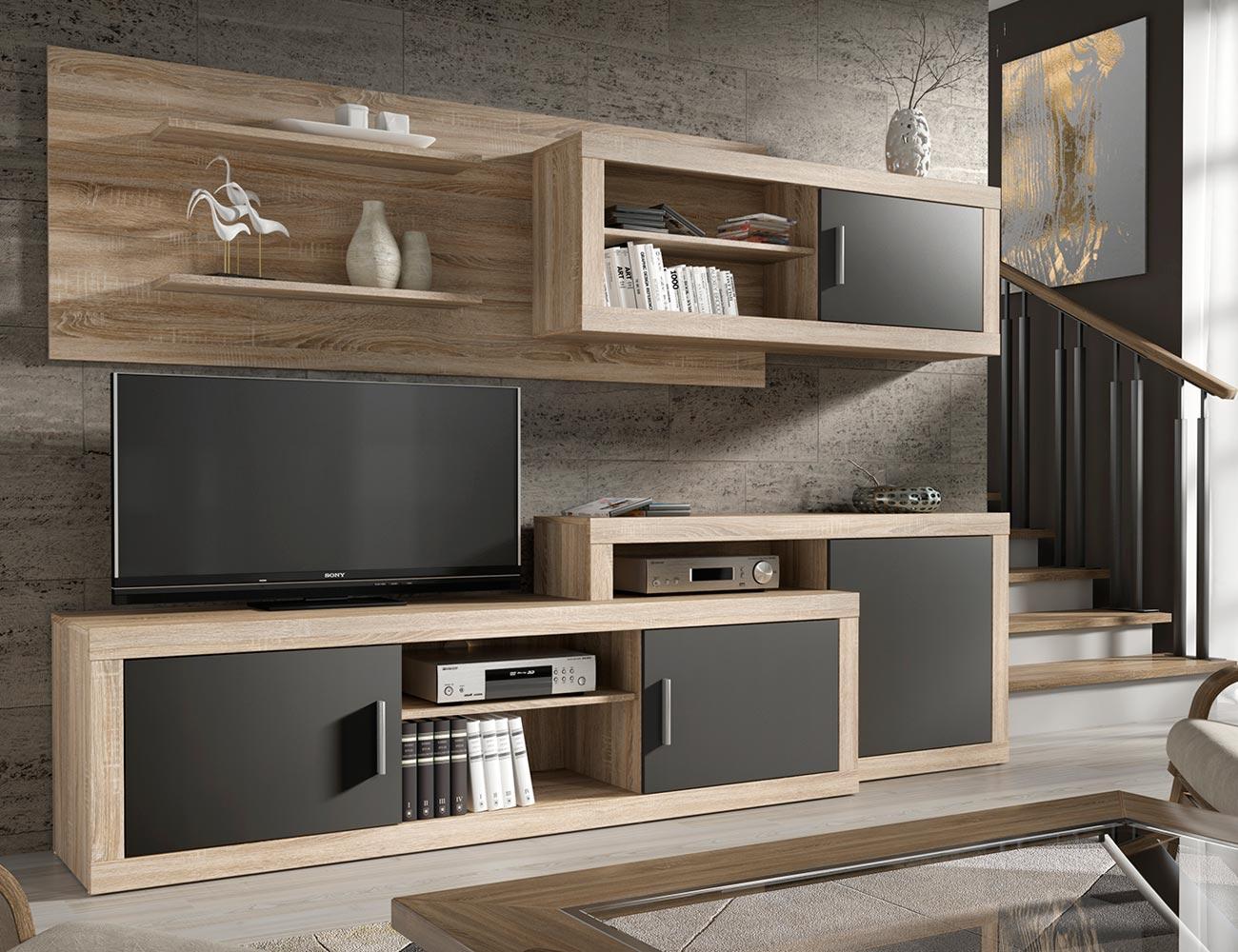 Mueble de sal n estilo moderno composici n nica 2092 factory del mueble utrera - Factory del mueble utrera ...