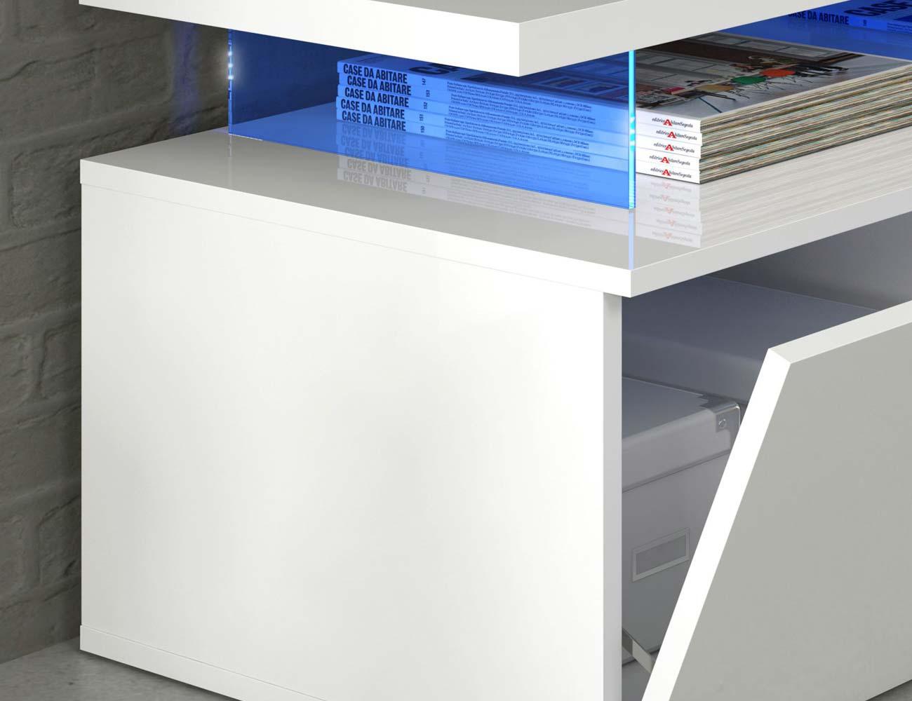 Mueble salon comedor luces leds blanco 2