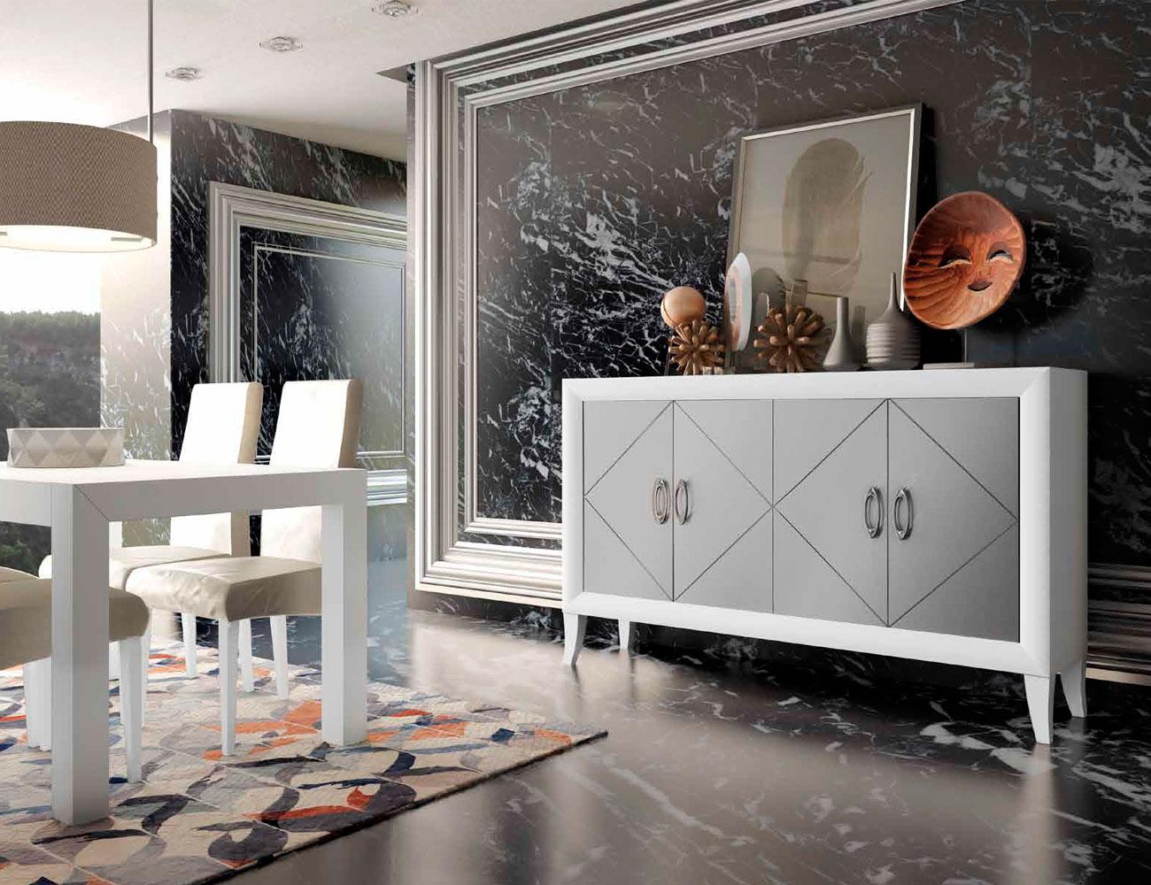 Mueble salon comedor romantico aparador 2