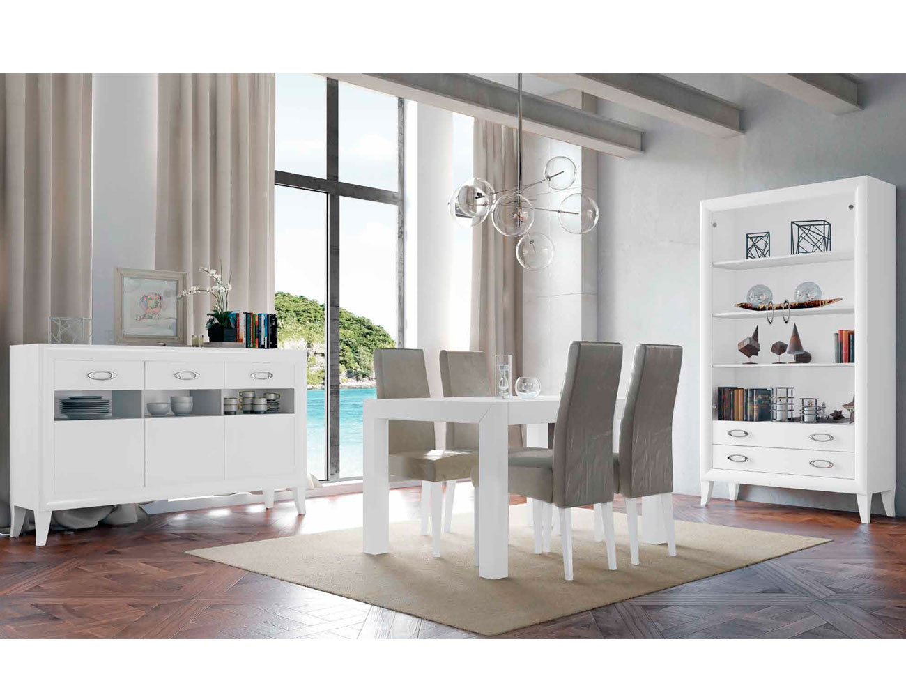 Mueble salon comedor romantico aparador1