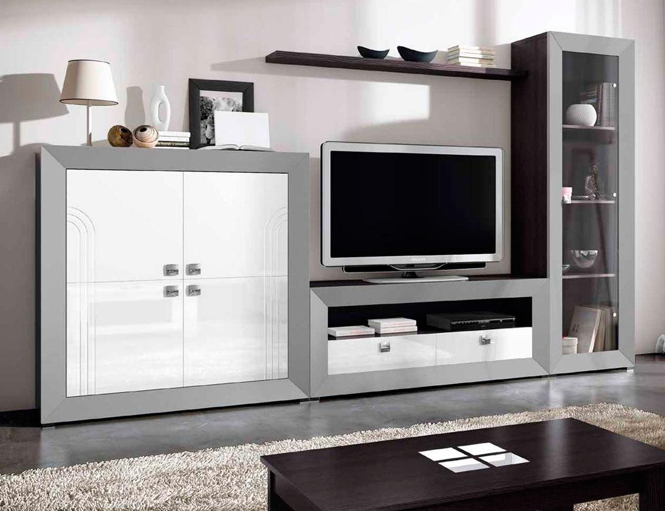 Mueble de sal n modular moderno lacado factory del - Mueble salon modular ...
