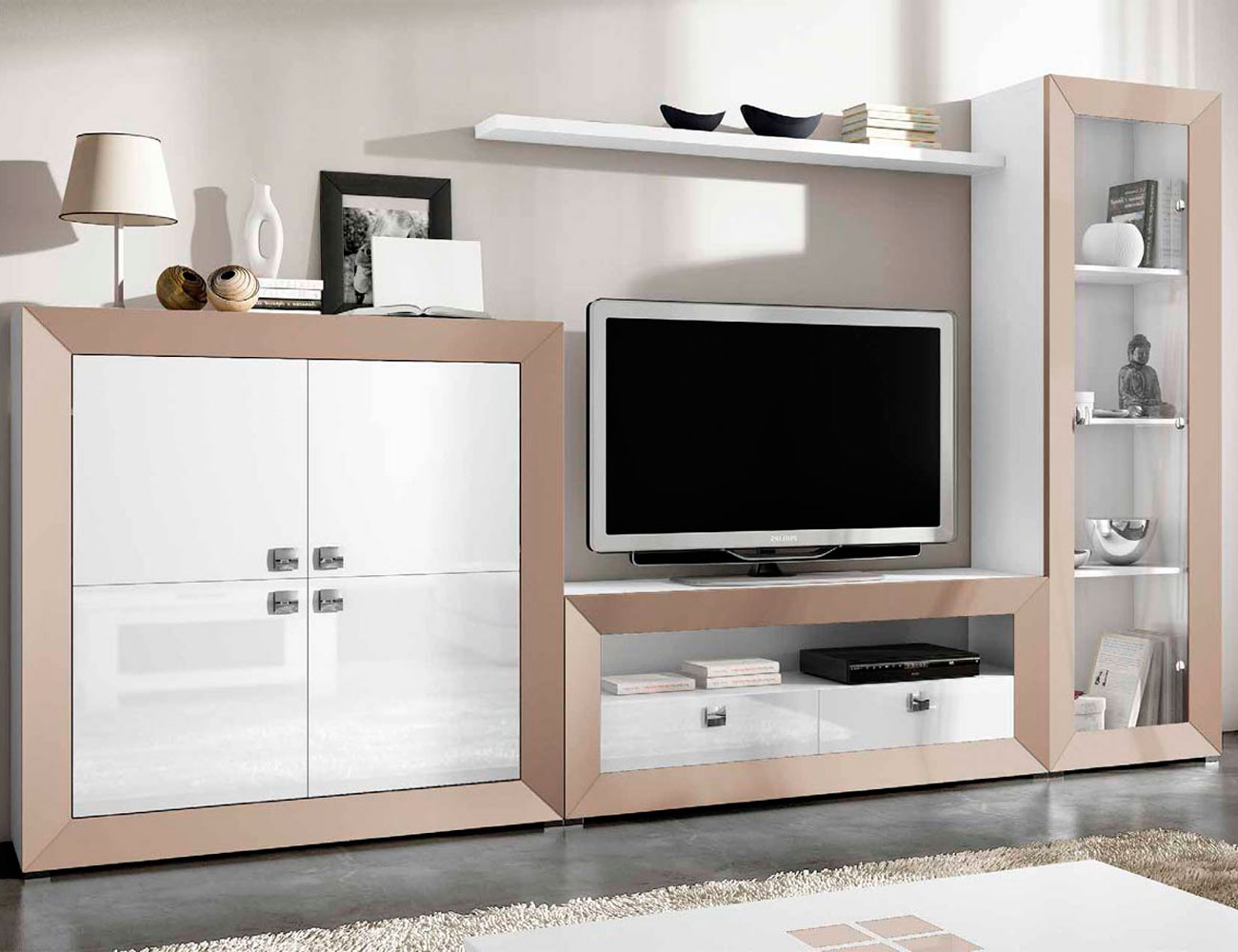 Mueble de sal n modular moderno lacado 2452 factory for Muebles salon modernos online