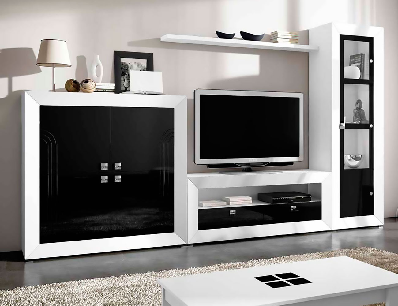 Mueble de sal n modular moderno lacado factory del for Mueble modular salon