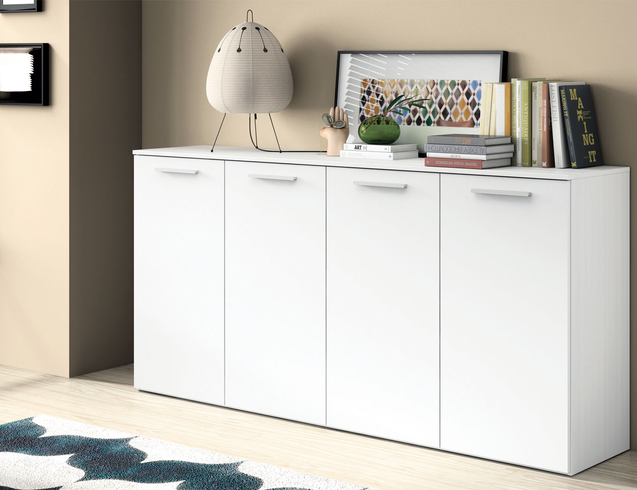 Mueble salon moderno aparador blanco 4146
