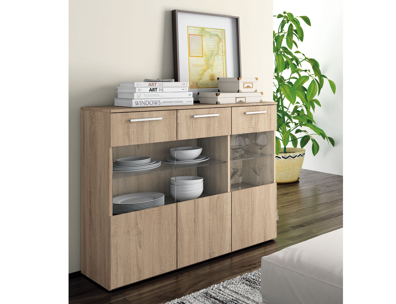 Mueble salon moderno aparador cambrian 4189