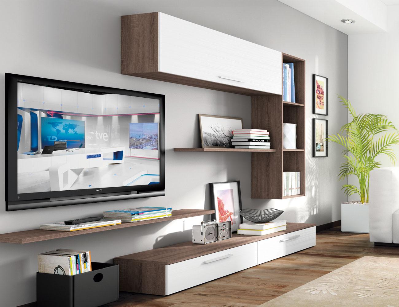 Mueble salon moderno britannia blanco 417