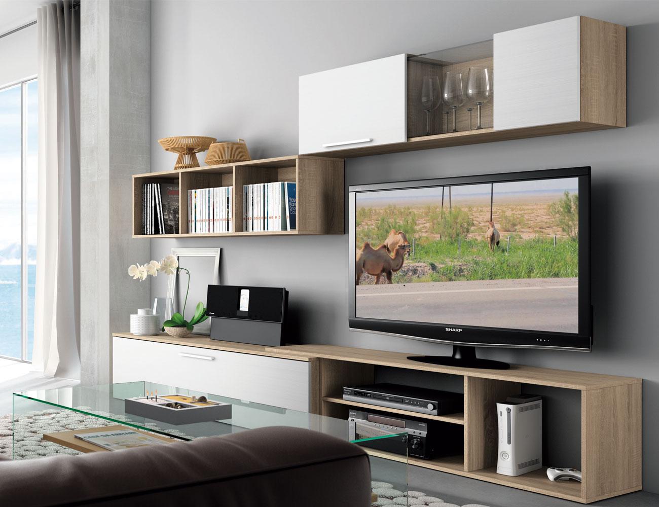 Mueble salon moderno cambrian blanco 423