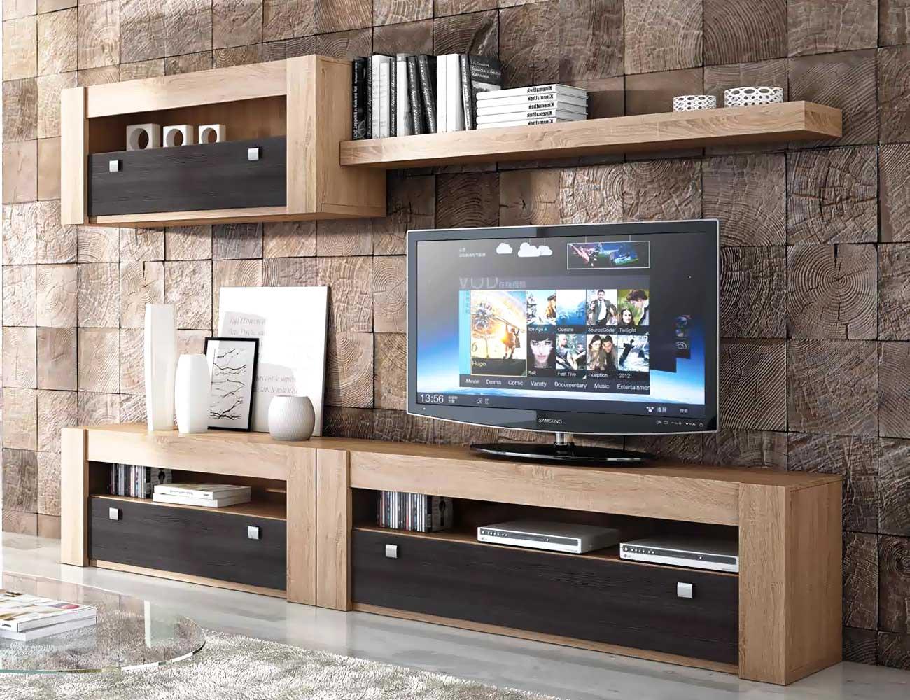 Mueble de sal n modular moderno en cambrian blanco for Factory del mueble madrid