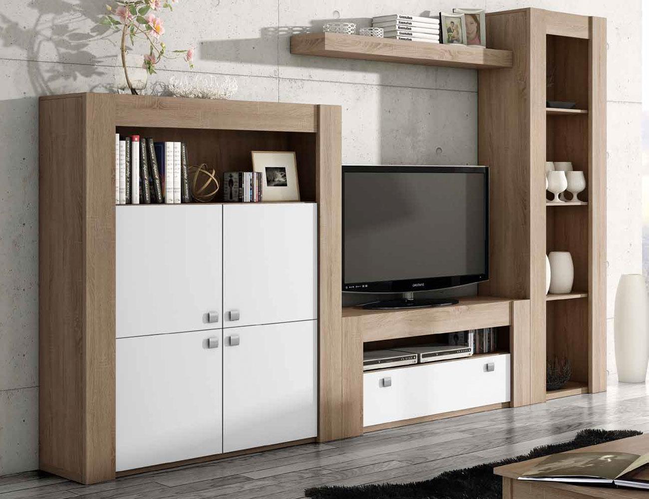 Mueble de sal n modular moderno en ceniza cambrian 2274 - Factory del mueble sevilla ...